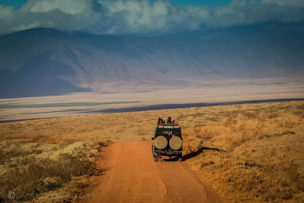 Safari truck in Ngorongoro Crater - Tanzania Safari