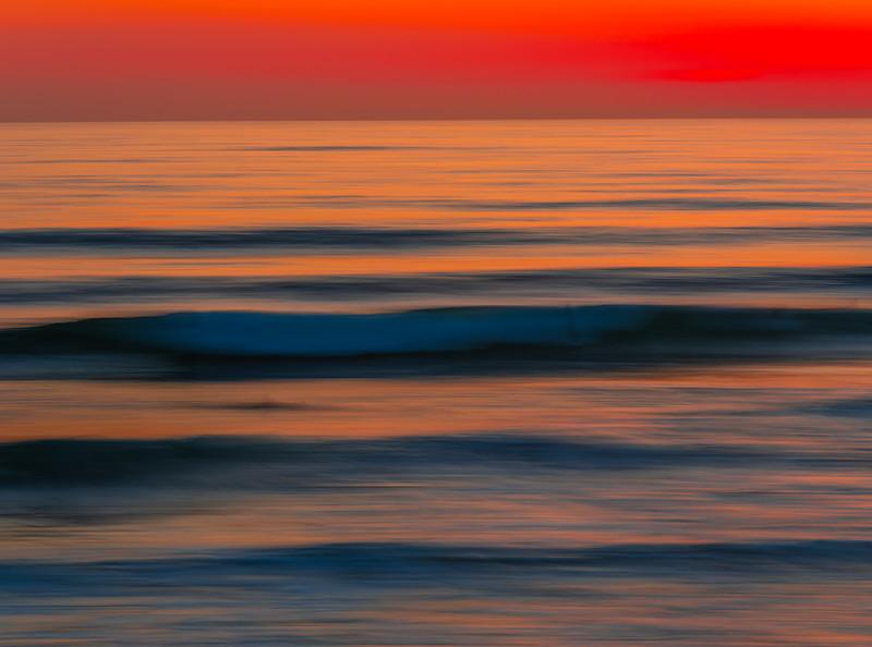 Phantom Surfer: Malibu Beach Abstract Ocean Art