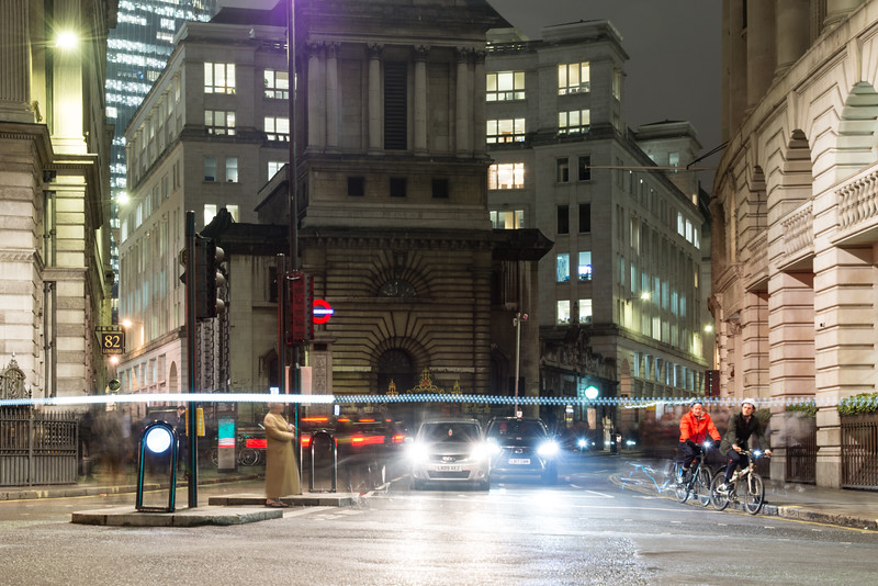Bank junction in the City of London