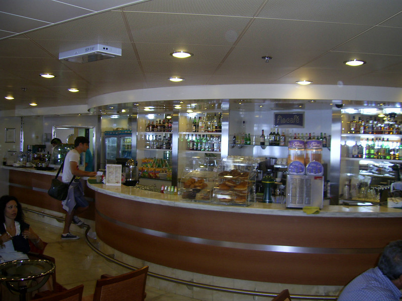 2012 - On board SUPERFAST II : the bar.