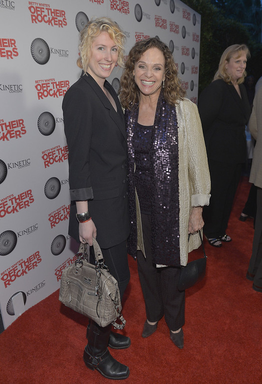 """. SANTA MONICA, CA - APRIL 10:  Actress Valerie Harper (R) and daughter Cristina Cacciotti attend Kinetic Content\'s 2nd Annual Anniversary and Celebration of Betty White\'s \""""Off Their Rockers\"""" at the Viceroy Hotel on April 10, 2012 in Santa Monica, California.  (Photo by Charley Gallay/Getty Images for Kinetic Content)"""