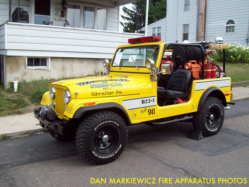 GIBRALTAR FIRE CO. BRUSH 23-1 1979 JEEP/GFC BRUSH UNIT