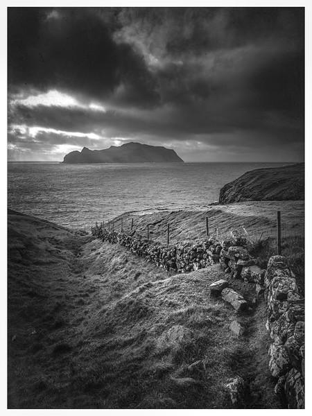 Faroe Coast 8a    Black and White Photography by Wayne Heim
