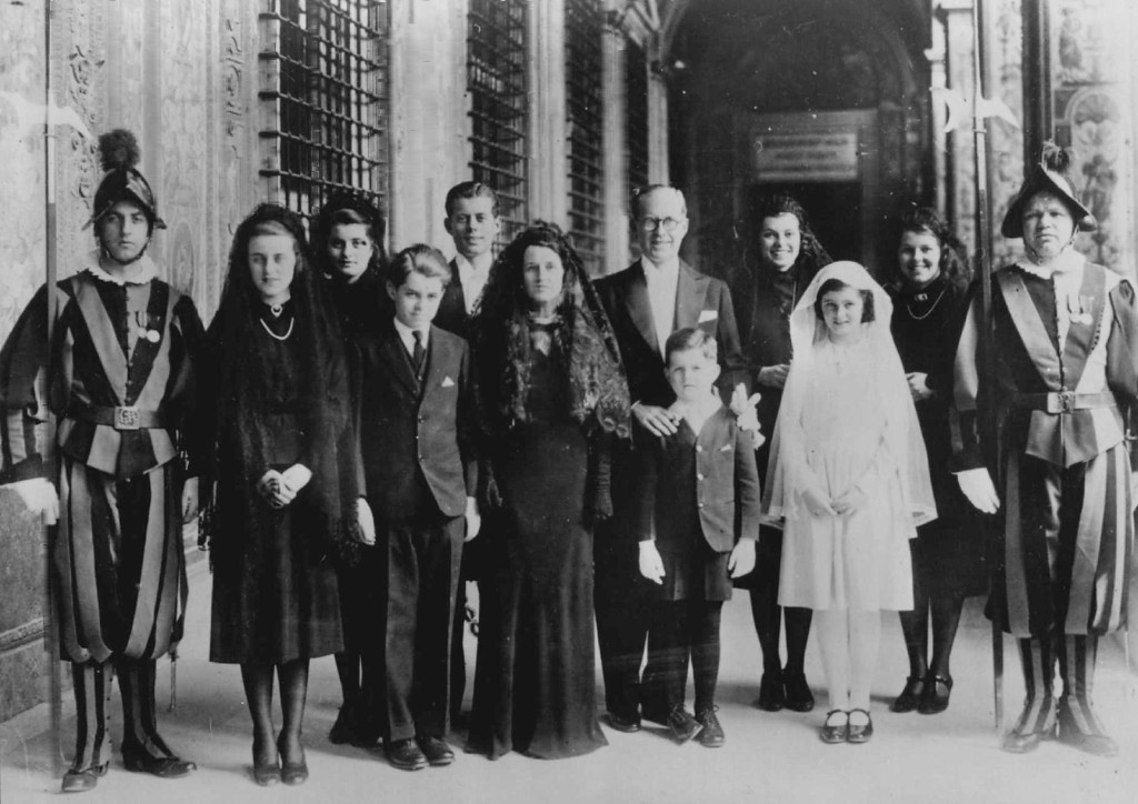. Joseph Kennedy and family, photographed at the Vatican in Rome in 1938.  Denver Post file