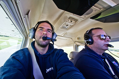 Flying in a plane with my friend Bruce Cohen