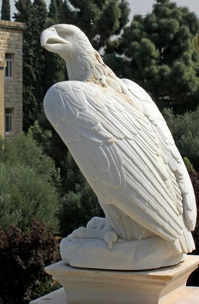 33-Baha'i eagle, about 3 feet tall.