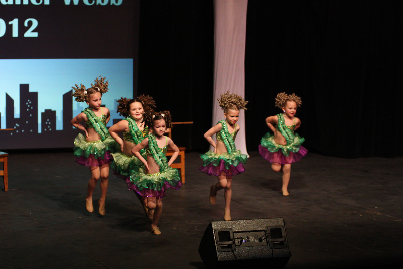 While tallying votes, dance groups performed