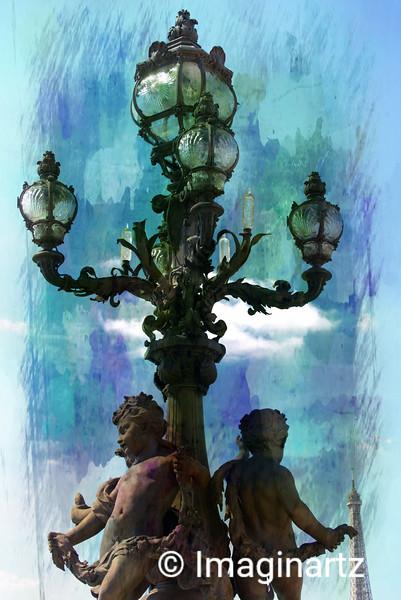 Blue  lights in Paris