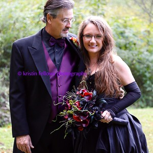 The Bride Wore Black ~ Raven & Steve's Appalachian Gothic Wedding