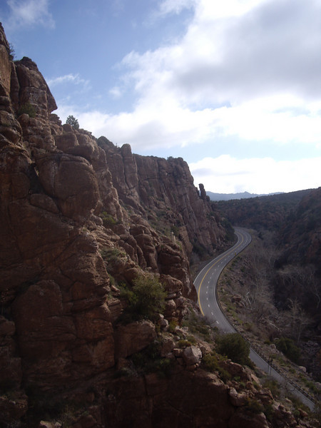 Highway 60 from the Upper Pond crag.
