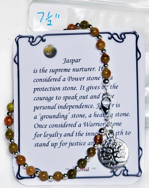 Jaspar with tree pendant