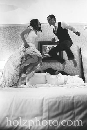 Tina & Andrew B/W Wedding Photos