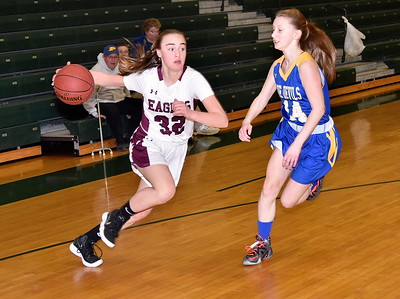 AMHS Girls Varsity Basketball Playdown vs Poultney photos by Gary Baker