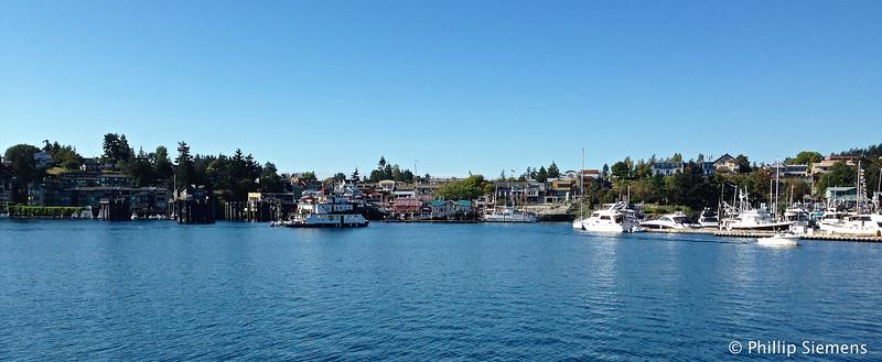 Arriving at Friday Harbor in San Juan Island.