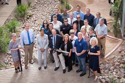 Veterans Resource Center Reflection Garden Ribbbon Cutting