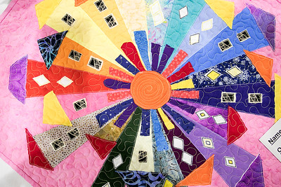 Quilt show at Fitchburg Senior Center, August 20, 2019