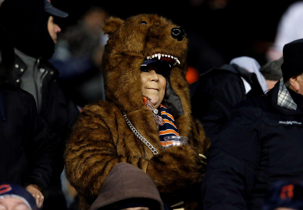 . Fans watch a game between the Chicago Bears and the Dallas Cowboys at Soldier Field on December 9, 2013 in Chicago, Illinois.  (Photo by Jonathan Daniel/Getty Images)