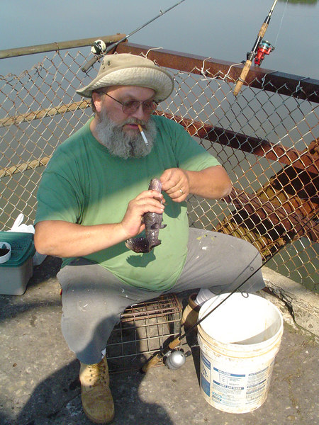 US123 fishing pier fisherman