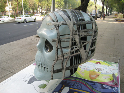 Mexico Skulls on Paseo de Reforma