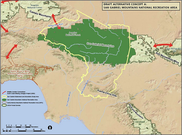 San Gabrial Mtns National Recreation Area Study