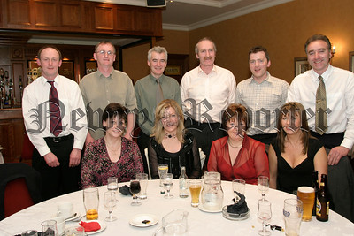 Members of the Down Masters Football  Team pictured at their Dinner in the Canal Court, Included are Pat & Maritah Dade, Garvan & Catherine Bradley, Aiden & Linda Mc Anearney, Peter Murnin ,Noel Greenan , Sean & Catherine Mc Greevey, 05W13N65.