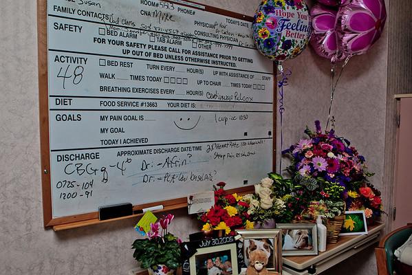Kara's hospital flowers