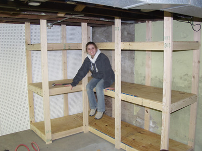 Building Basement Shelves