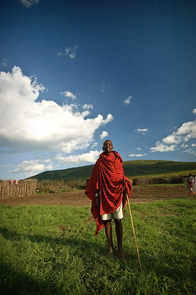 Masai man with his stick