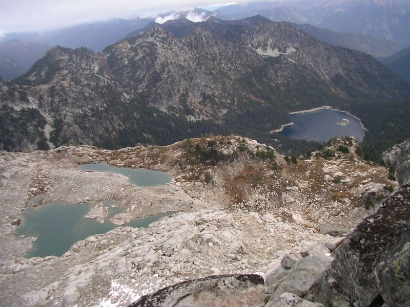 Klonqua Lakes down below to the right.