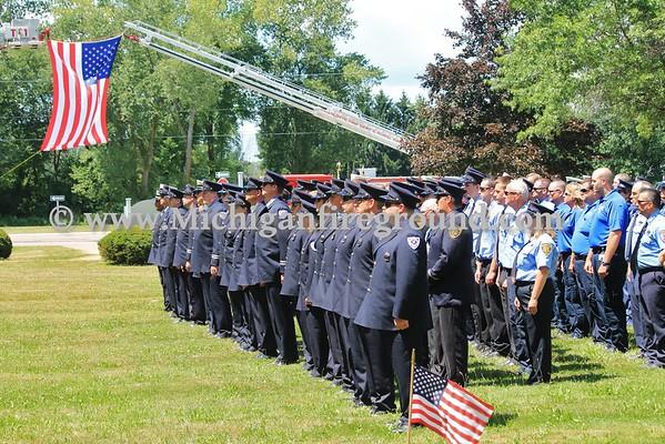 7/31/15 - Firefighter Dan Sharp funeral service