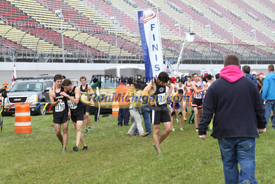 Post Race - D1 Boys - 2013 MHSAA LP XC Finals