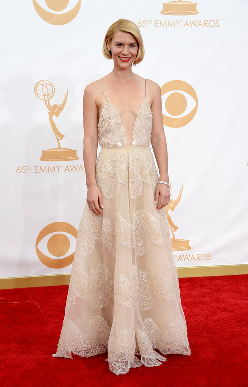 . Actress Claire Danes arrives at the 65th Annual Primetime Emmy Awards held at Nokia Theatre L.A. Live on September 22, 2013 in Los Angeles, California.  (Photo by Frazer Harrison/Getty Images)
