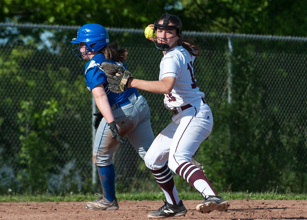 05/21/18 Wesley Bunnell   Staff Bristol Eastern softball defeated Bristol Central on Monday afternoon at Bristol Central High School. Third baseman Gwen Torreso (15) fields her position and throws to first.
