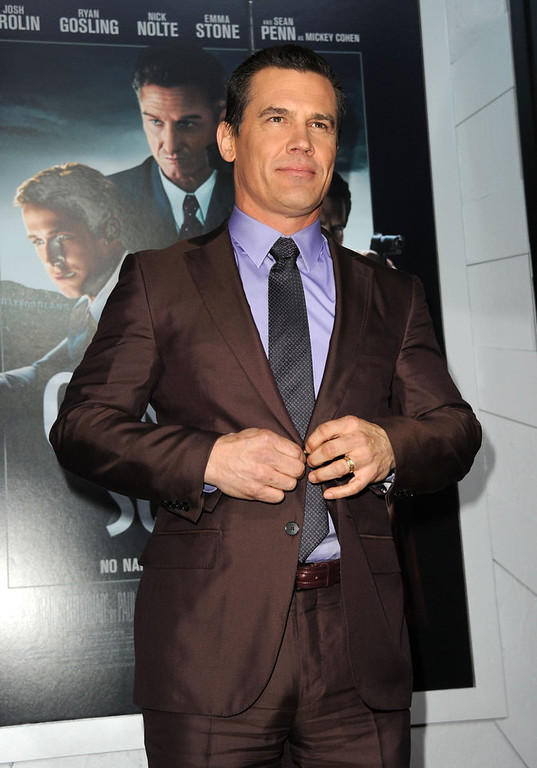 ". Actor Josh Brolin arrives at Warner Bros. Pictures\' ""Gangster Squad\"" premiere at Grauman\'s Chinese Theatre on January 7, 2013 in Hollywood, California.  (Photo by Kevin Winter/Getty Images)"