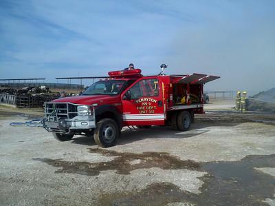 Perryton, Texas FD Hay Fire