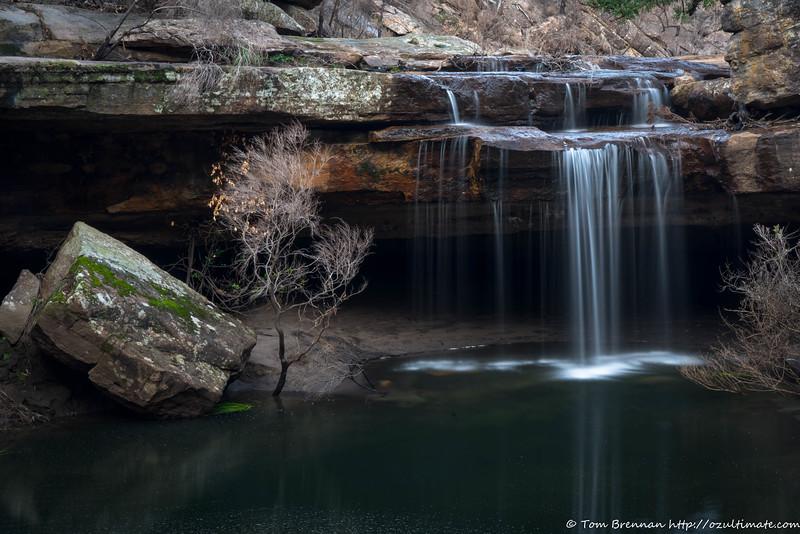 The falls at Bollards Cave