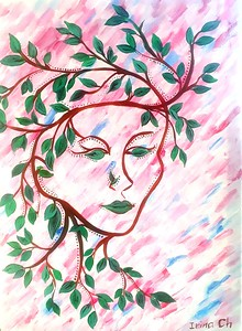 """""""Spring"""" (acrylic) by Irina Chudinova"""