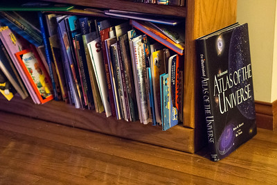 ISO 6400, handheld.  No noise reduction.  Olympus 45mm f/1.8 lens used.  Focus point is on the edge of the large black book leaning against the bookshelf.  .