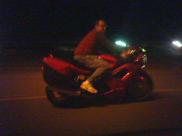 Tim Marek on his Ducati ST4