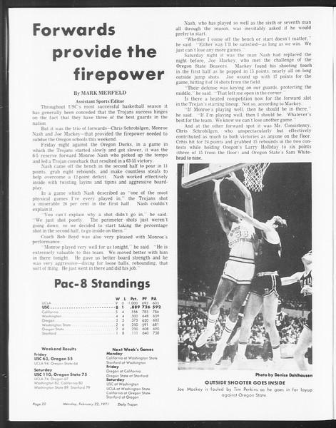 SoCal, Vol. 62, No. 73, February 22, 1971