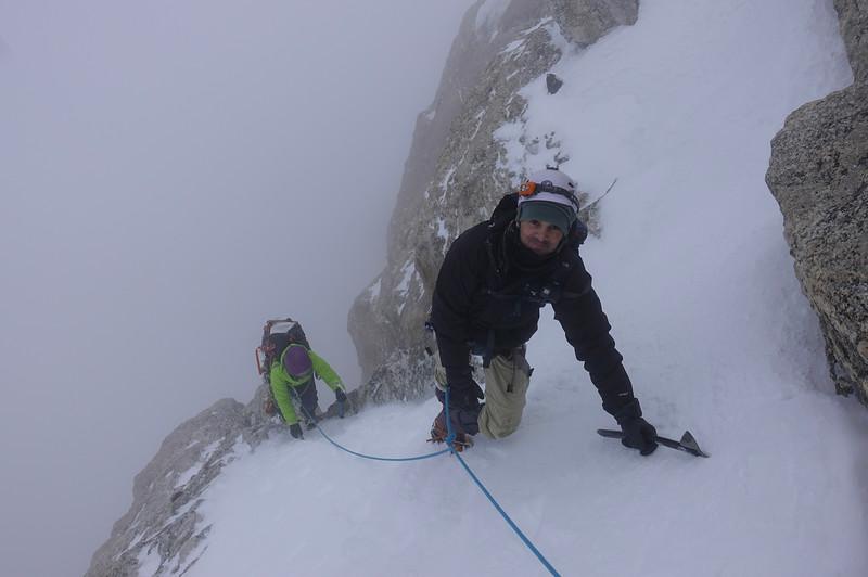 Early season attempt on the Grand Teton
