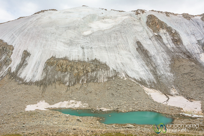 Glacier and Alpine Lake - Koshkol Lakes Trek, Alay Mountains, Kyrgyzstan