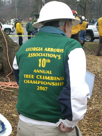 GAA Tree Climbing Championship - 2007 - Men in Trees - Some wearing Arborwear some not . . . .