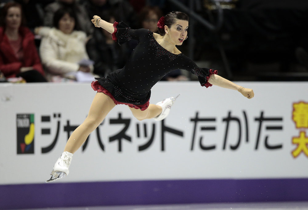 . Valentina Marchei of Italy skates her short program in the women\'s competition at the 2013 World Figure Skating Championships in London, Ontario, March 14, 2013.  GEOFF ROBINS/AFP/Getty Images