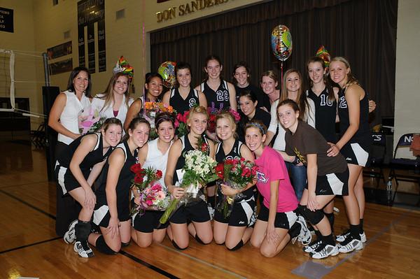 2008 Varsity Volleyball - Senior Night - Oct 23rd, 2008