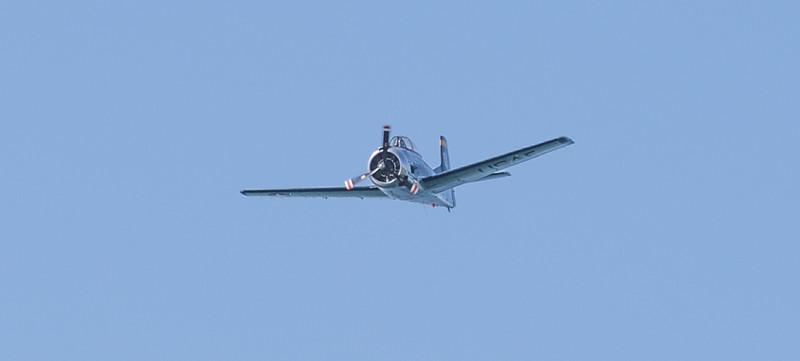 Trojan Aircraft over Blue Lagoon NSW