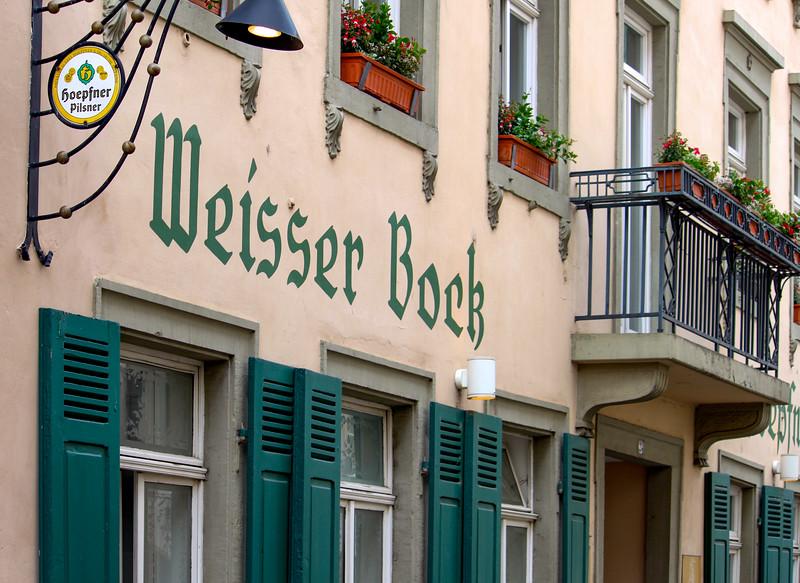 The restaurant where Tim and  Edda had their wedding dinner, off Hauptstraß in Heidelberg