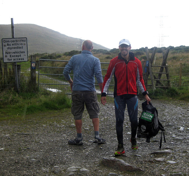 Meanwhile, Roger was reaching the finish line at the far end of the Carneddau. He appears to have cleverly beaten the worst of the weather, arriving in around 13 hours to win the event. Awesome effort Roger!