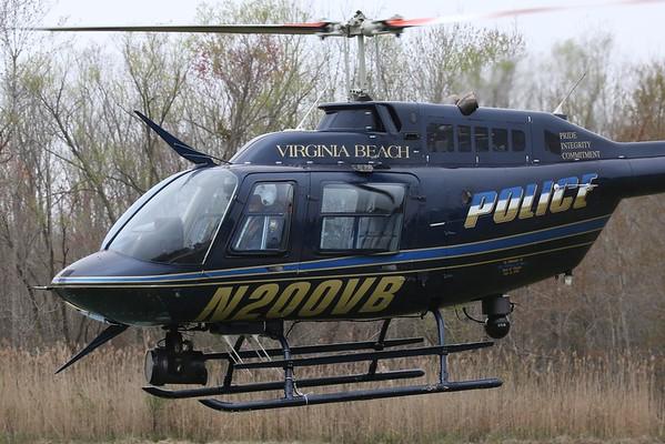 """Virginia Beach Police Department 1989 Bell 206-B3 """"Jet Ranger"""", Virginia Beach, 06Apr19"""