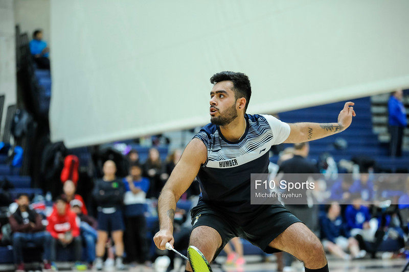 TORONTO, CANADA - Feb 16: during OCAA Badminton Championship at University of Toronto, Mississauga. Photo: Michael Fayehun/F10 Sports Photography